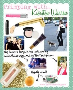"My latest @FabFitFun""Primping with..."" column today features my eternally beautiful, sprite-of-a-friend, actress/writer/wife/mother Kiersten Warren. We had lunch and sauvignon blanc at Chateau Marmont and dished on her beauty routine and life as she knows it. I laughed. A lot. And I love her to bits! Without further ado, please enjoy ""Primping with...Kiersten Warren"".  #kierstenwarren #celebrity #beauty"