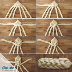 Hefezopf mit Strängen flechten – DIY-Anleitung Here we show you different variants, how to braid a Hefezopf. Of course, a delicious recipe for a yeast dough is included. Donut Recipes, Cooking Recipes, Bread Cast, Challah Bread Recipes, Recipe Fo, German Baking, Bread Shaping, Braided Bread, Diy Braids