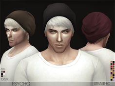 Psycho (Male Hair): Download • Custom beanie by @toksik • 18 colors • Hat support • All LOD's • Teen through elder Enjoy! And thanks again @toksik ✿。✿ PLEASE note that the beanie itself comes in colors that match the hair swatches, but you can change...