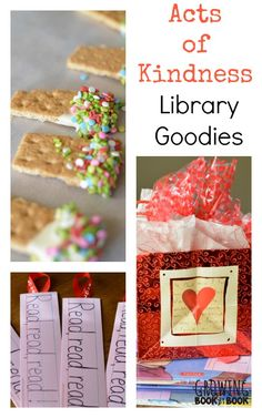Show the librarians and library patrons acts of kindness from growingbookbybook.com