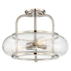 Quoizel Trilogy TRG1716BN Semi Flush Mount Light - TRG1716BN
