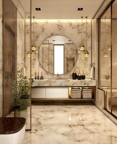 Luxury Bathroom Master Baths Photo Galleries is enormously important for your home. Whether you choose the Small Bathroom Decorating Ideas or Luxury Bathroom Master Baths Beautiful, you will create the best Luxury Bathroom Ideas for your own life. Bathroom Design Luxury, Home Interior Design, Interior Decorating, Decorating Ideas, Decor Ideas, Bath Design, Marble Interior, Luxury Homes Interior, 31 Ideas