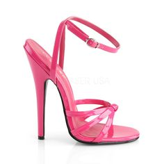Stiletto Heel Hot Pink Pat Wrap Around Knotted Strap Sandal Hot Pink Heels, Pink High Heels, Pink Shoes, Sexy High Heels, Ankle Wrap Sandals, Ankle Strap Heels, Ankle Straps, Stripper Heels, Prom Heels