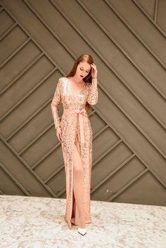 Women Sexy High Split Long Dress 2018 Solid V Neck Autumn Winter Sequin  Maxi Dress Vestidos 9a6f254ff1c2