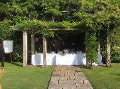 Cocktail Aperitivo at the upper garden at amazing Villa La Foce