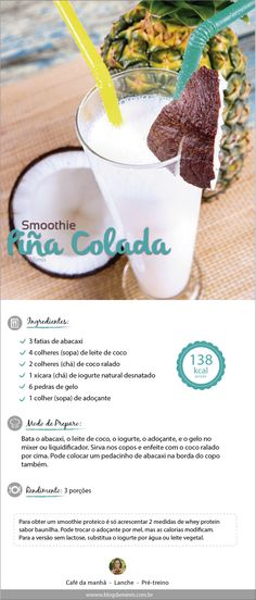 Healthy Drinks, Yummy Drinks, Yummy Food, Healthy Shakes, Raw Food Recipes, Sweet Recipes, Healthy Recipes, Vegan Smoothies, Smoothie Recipes