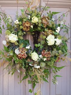 Wreath Making workshops Learn how to make your own festive wreath, for your front door. Using traditiona. Christmas Door Wreaths, Christmas Flowers, Easter Wreaths, Rustic Christmas, Christmas Decorations, Diy Christmas, Autumn Wreaths For Front Door, Spring Door Wreaths, Christmas Vacation