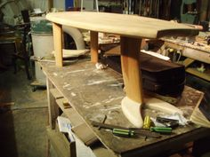 Surfboard table Surfboard Table, Surfboards, Surfs Up, Cool Furniture, Repurposed, Cool Stuff, Inspiration, Design, Home Decor
