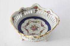 floral hand painted #Art #Nouveau #bowl - c1910