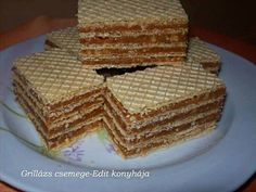 Grillázs csemege Bakery Recipes, Sweet Desserts, Waffles, Paleo, Cookies, Baking, Breakfast, Food, Kuchen