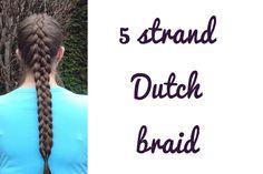 A DIY 5 strand Dutch braid. Please subscribe to my channel!