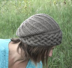 This is a KNITTING PATTERN for Song of Peace Hat! Song of Peace Hat is a unique knit hat with a featured cabled brim. This hat was designed