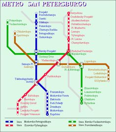 awesome St Petersburg Metro Map