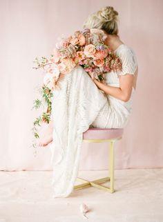 einzigartiger Brautstrauß in warmen Farben