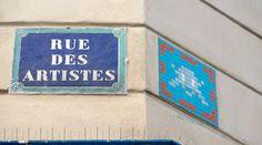 Space Invader PA_940_Artiste : Invader_Rue des Artistes (14è Arrt, Paris, France)_2017-02-16 © Hélène Ricaud (LNR)