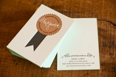 Oh So Beautiful Paper: Edge Painted Business Cards from Antiquaria