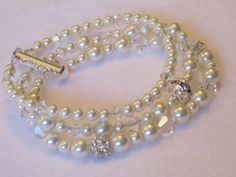 Pearl Wedding Jewelry Bride Bracelet by lakehousejewelrybd on Etsy