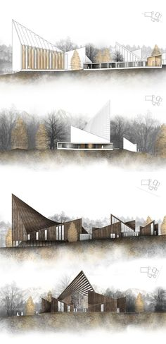 Hatlehol church a spiritual journey by konrad wójcik, via behance architecture visualization, architecture portfolio Architecture Panel, Architecture Graphics, Architecture Visualization, Architecture Drawings, Architecture Design, Architecture Definition, Sections Architecture, Architecture Quotes, Portfolio D'architecture