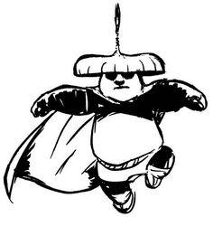 Kung Fu Panda Tegninger til Farvelægning. Printbare Farvelægning for børn. Tegninger til udskriv og farve nº 63