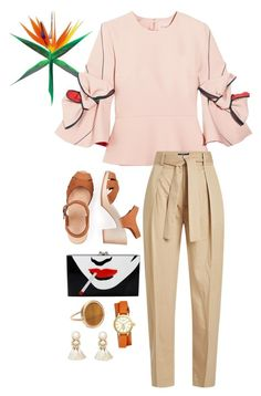 Sin título #116 by fautumm on Polyvore featuring polyvore, fashion, style, Roksanda, Polo Ralph Lauren, Charlotte Olympia, Tory Burch, Violeta by Mango, Ginette NY and clothing