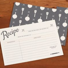 vintage recipe card free printable
