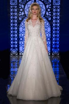 Wedding gown by Reem Acra.Check out more gorgeous dresses in our Reem Acra gown gallery ?