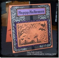 Handmade Halloween card using a Close to My Heart stamp.