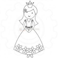 Princess Digital stamp single