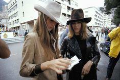 Nina Rindt and Helen Stewart. Monaco GP '71