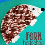 Hedgehog Craft Using a Fork