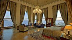 The bedroom of the Sultan Suite at Çirağan Palace Kempinski, Çirağan Caddesi 32, 34349 Istanbul, Turkey.