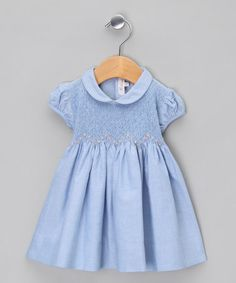 Take a look at this Blue Smock & Collar Dress - Infant, Toddler & Girls by Kidiwi on #zulily today!