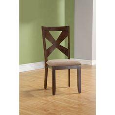 Somette Batavia Oak Side Chair (Set of 2)