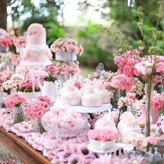 anfitria's over the top Dessert Table with breathtaking flowers!!!!