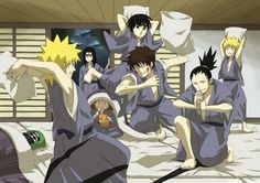 "I love how Shino is sleeping with all the ruckus, Chouji eating like always and Neji is like ""Why do I even bother..."" xD"