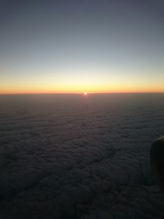 Sunset above the clouds,  lanzarote