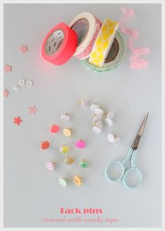 covered with washi tape tacks