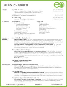Creative Resumes Interior Design