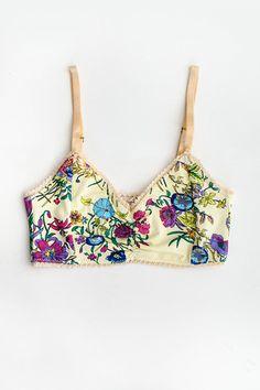 Gypsy Queen Bralette - Cream Floral