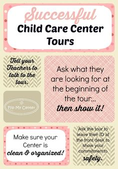 Child Care Center Tours, Directors, Child Care Tips, Presenting Your Child Care Center