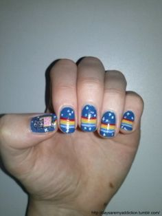Nails of the Day ::: Hello Giggles ::: Nyan Cat by Stina W