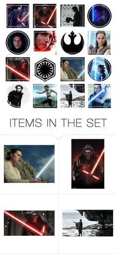 """""""Rey vs Kylo Ren Moodboard"""" by allyssister ❤ liked on Polyvore featuring art"""