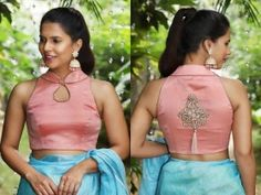 Stylish blouse back designs to amp up the oomph quotient! Round neck, deep neck, v-neck, backless, and many other blouse back designs in this vast collection. Best Blouse Designs, Wedding Function, Cute Blouses, V Neck Blouse, Ethnic Fashion, Horoscopes, Timeless Design, Lehenga, Compliments