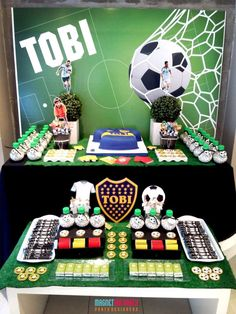 Awesome soccer birthday party! See more party ideas at CatchMyParty.com!