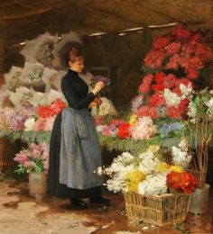 The Flower Market by Victor-Gabriel Gilbert