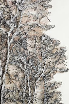 Textile Art - Aesthetic Home Decor Lesley Richmond Silver Forest Brighten your luxury home with textile art Art Fibres Textiles, Textile Fiber Art, Textile Artists, Gesso Art, Sculpture Textile, Quilt Modernen, Art Et Illustration, Art Illustrations, Natural Forms