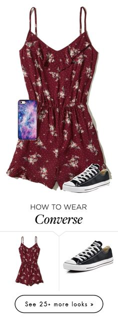 """""""Made In the A.M."""" by loveandintelligence on Polyvore featuring Hollister Co., BlissfulCASE and Converse"""