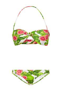 Knotted Bandeau Halterneck Bikini by Isolda - Moda Operandi