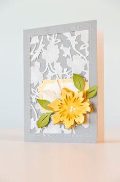 DIY Floral card made with Anna Griffin Flower Bramble Cricut Cuttlebug Cut & Emboss Die