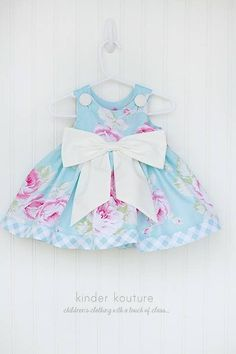 Now available on our store: Baby Rose Dress Blue Check it out here! http://kinderkoutureclothing.com/products/baby-rose-dress-blue?utm_campaign=social_autopilot&utm_source=pin&utm_medium=pin